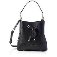 Michael Kors mercer gallery, borsa a secchiello donna, black, s