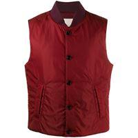 Mackintosh gilet trapuntato dundee - rosso