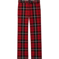 Marc Jacobs pantaloni dritti a quadri - rosso