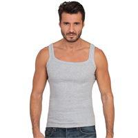 Basic Cotton canotta da uomo con spalla stretta in puro cotone a costina basic cotton