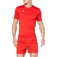 Le coq sportif n°1 training short rugby, pantalone corto uomo, rosso puro, 4xl
