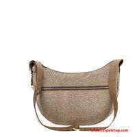 Borbonese luna bag small op baige/brown