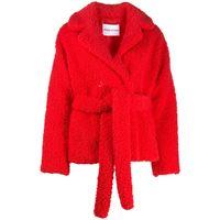 STAND STUDIO giacca con cintura tiffany - rosso