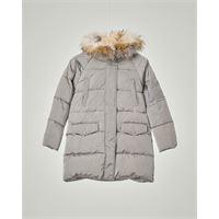 Elsy parka grigio con cappuccio e pelliccia staccabile 32-36