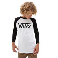 Vans t-shirt maniche raglan bambino Vans classic (8-14+ anni) (white-black) boys bianco, taglia m