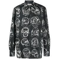 Alexander McQueen camicia con stampa - nero