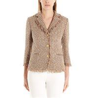 TAGLIATORE blazer donna adele16041a1469 cotone oro