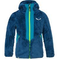 Salewa giacca con cappuccio puez highloft bambino blu