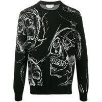 Alexander McQueen maglione con stampa - nero