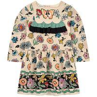 Gucci bambini - bambina - abito stampato in seta - 6 anni - beige
