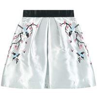 Raspberry Plum - taffeta skirt - bambina - 3-4 anni - grigio