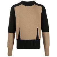 Alexander McQueen maglione con design color-block - toni neutri