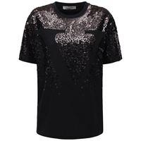 VALENTINO t-shirt in jersey di cotone con paillettes