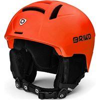 Briko canyon, casco da sci/neve unisex-adulto, matt orange fluor black, 56-58 cm