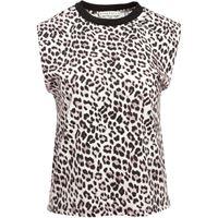 Alice+Olivia t-shirt smanicata braxton - bianco