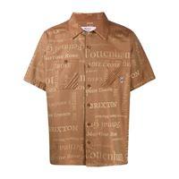 Martine Rose camicia con stampa london - marrone