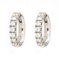 Crivelli orecchini cerchio oro bianco diamanti crivelli