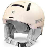 Briko - casco da sci/snowboard, da donna, matt quartz pearl-white antique, l