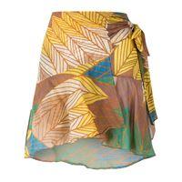 Amir Slama gonna a portafoglio con pannelli a contrasto - multicolore
