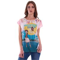 LUCKYLU MILANO t-shirt luckylu coachella valley bianca