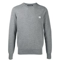 Acne Studios maglione con applicazione face - grigio