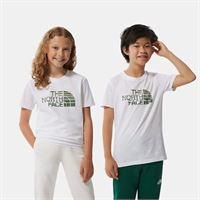 TheNorthFace the north face t-shirt a maniche corte bambini easy new taupe green/tnf white taglia l donna