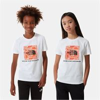 TheNorthFace the north face t-shirt bambini box new taupe green/tnf white taglia l donna
