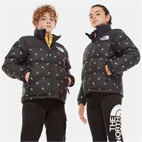 TheNorthFace the north face giacca in piumino bambini 1996 retro nuptse tnf black tossed logo print taglia s donna