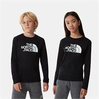 TheNorthFace the north face t-shirt bambini easy a maniche lunghe tnf black/tnf white taglia l donna