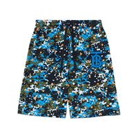Burberry shorts con stampa camouflage - blu