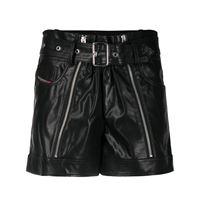 Diesel shorts con zip - nero