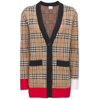"""BURBERRY cardigan """"iconic"""" in maglia di misto lana"""