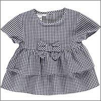 IDO camicia manica corta quadretti 4u320 bambina IDO