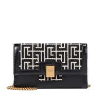 Balmain clutch 1945 mini in jacquard e pelle