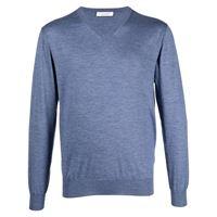Cruciani maglione con scollo a v - blu
