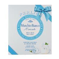 Perlier cofanetto muschio bianco sapone mani liquido + crema mani
