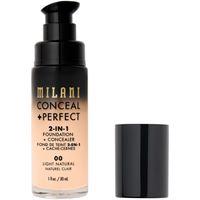 Milani 00 light natural conceal + perfect 2-in-1 foundation + concealer fondotinta 30ml