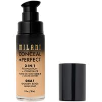 Milani 04a1 golden beige conceal + perfect 2-in-1 foundation + concealer correttore 30ml