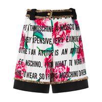 Moschino shorts con stampa - bianco