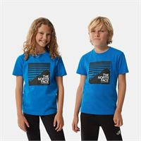 TheNorthFace the north face t-shirt bambini box bolt blue taglia l donna