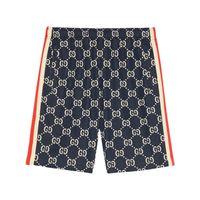 Gucci shorts con motivo gg jacquard - blu