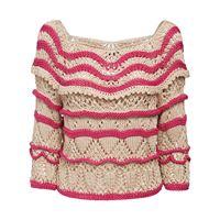 ALBERTA FERRETTI maglia in cotone bicolor