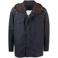 Mackintosh giacca con cappuccio drumming - blu