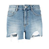 SJYP shorts denim effetto vissuto - blu