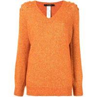TWINSET maglione con scollo a v - arancione