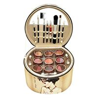 Gloss! valigetta trucco - vintage - 36 pzi - scatola regalo, regalo donna, scatola di trucco