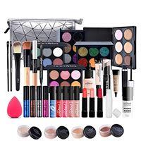 JasCherry 39pezzi make up cosmetico trousse di trucchi tutto in uno tavolozza per trucco kit valigetta per multifunzione cosmetici valigetta per occhio, viso, labbro et sopracciglio make-up