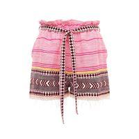 """LEMLEM shorts """"neela"""" in misto cotone con cintura"""