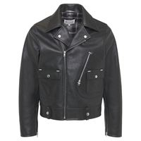 MAISON MARGIELA giacca biker in pelle