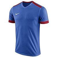 Nike park derby ii jersey ss, t-shirt bambino, royal blue/university red/university red/(white), l